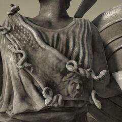 戈耳工,可能是美杜莎,作为位于雅典的一座<a href=