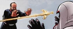 Alessandro III lancia il bastone dell'Eden a Nikolai