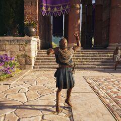 巴尔纳巴斯在圣殿大门前