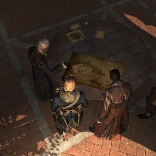 爱德华和圣殿骑士们讨论观测所