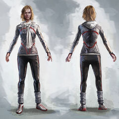 Concept art of Galina without her hood