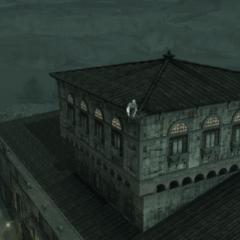 Ezio au sommet de la Villa