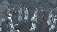 Krzyżowcy podczas bitwy o Arsuf