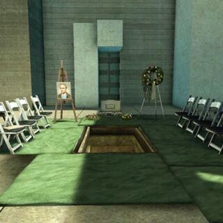 Clays Beerdigung