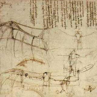 達芬奇的飛行器圖紙