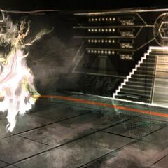 Concept art of Minerva and Ezio within the Vault