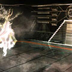 密室中埃齐奥与密涅瓦相会的概念设定图