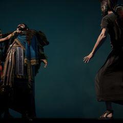 Aya menaçant Septimius
