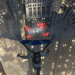 戴斯蒙德在纽约使用降落伞