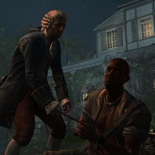 <b>De Fayet</b> torturant un esclave à l'aide d'un fer à marquer