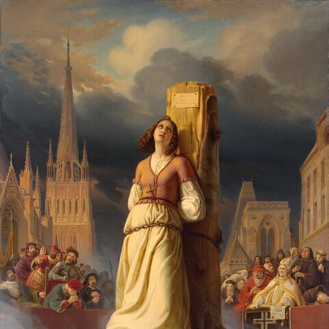 """""""圣女贞德""""被圣殿骑士处决"""