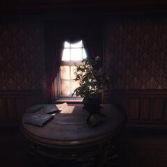 一张放有海盗帽的桌子