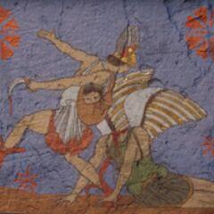 一幅公元前5世纪的描绘珀耳修斯杀死美杜莎的壁画