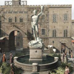 佛罗伦萨绞刑台前的一个石雕