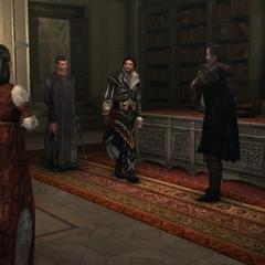 Niccolò participant à la réunion des Assassins.