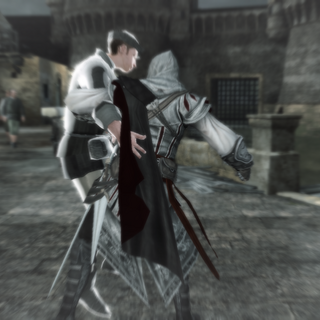 Ezio affrontant le mari malhonnête