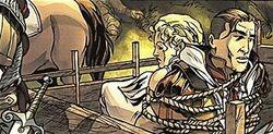 Aquilus e Valeria prigionieri