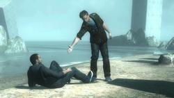 Clay aiuta Desmond rialzarsi