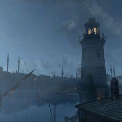 夜晚的君士坦丁堡
