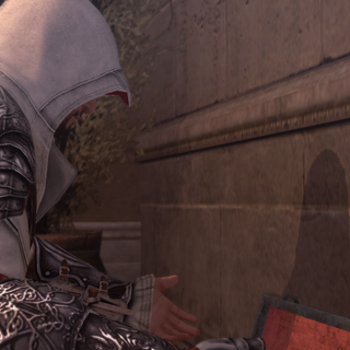 Ezio remarquant l'absence d'invitation