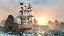 Okręt na Karaibach by VectorPS3