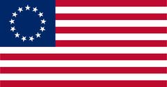 US flag 13 stars