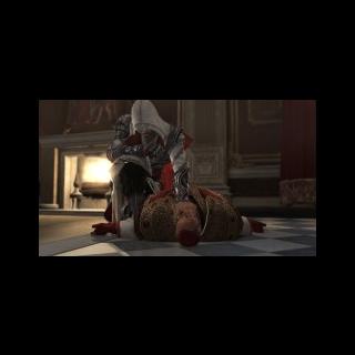 Ezio donnant sa dernière bénédiction à <b>Rodrigo</b>