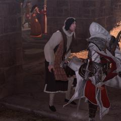 Ezio corrigeant Santino