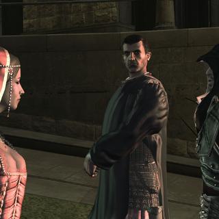 Ezio et les Assassins assistant à la révolte