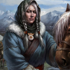 Maria, during the mission to assassinate Genghis Khan