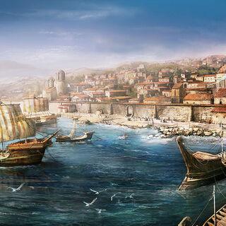 Un port de <b>Chypre</b>