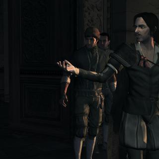乌戈与安东尼奥和埃齐奥在丝绸宫