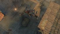 Ezio wykonujący Skok Wiary (by Kubar906)