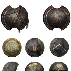 Concept Art|Concept art of shields in <i>Origins</i>