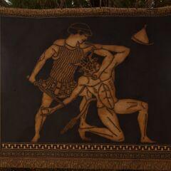 一幅描绘忒修斯杀死弥诺陶洛斯的挂毯