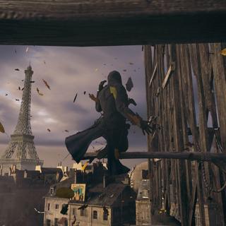 L'Initié escaladant la statue