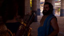 Kasandra rozmawia z Sokratesem po ostracyzmie