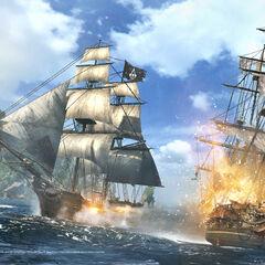 <i>寒鸦号</i> 与敌船战斗