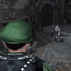 Un garde remarquant l'arrivée des troupes des Borgia