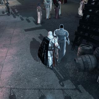 Ezio dérobant le masque à Dante