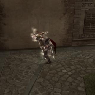 Ezio affrontant le mari infidèle