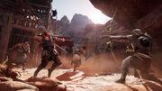 ACO HO Screenshot Bayek Fighting Romans