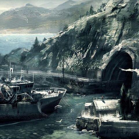 阿泰尔II号停靠在威廉的秘密碉堡