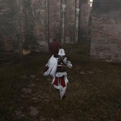 Ezio achtervolgt de koerier