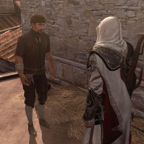 Le voleur lançant un défi de rapidité à Ezio
