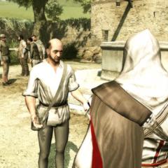 Ezio portant la troisième lettre à son destinataire