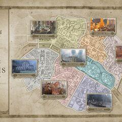 一幅十八世纪巴黎地图