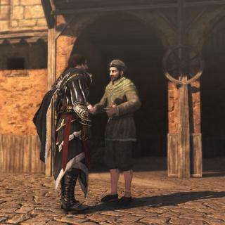 Ezio parlant à Federico