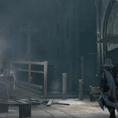 Ezio dans la basilique