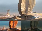 ACO White Desert Concept Art - Martin Deschambault